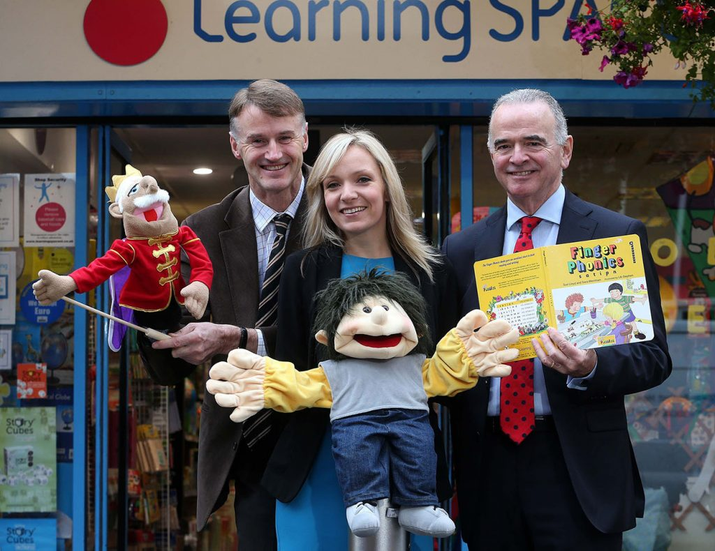 William McCulla, Invest NI Director of Corporate Finance, Lorraine McAleer, manager of Learning Space NI and Harry McDaid, Chief Executive of UCIT.
